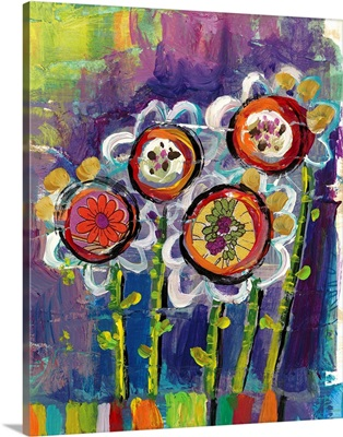 Happy Go Lucky - Purple Flowers
