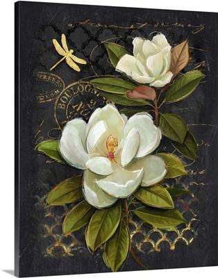 Heirloom Magnolia on Black