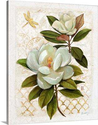 Heirloom Magnolia on Grey