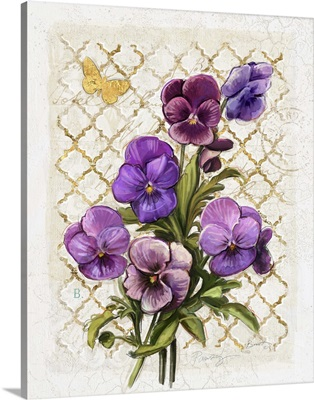 Heirloom Pansy on Grey