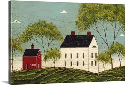 House with Dark Blue Sky