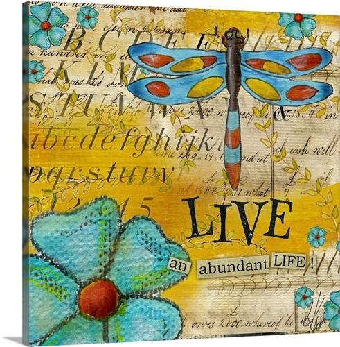 Inspiration Garden - Dragonfly Live Wall Art, Canvas Prints, Framed ...