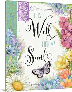 It Is Well With My Soul Wall Art Canvas Prints Framed Prints Wall