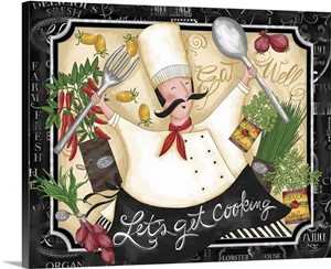 Let S Get Cooking Wall Art Canvas Prints Framed Prints