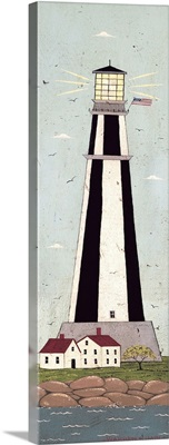 Nautical - Lighthouse - Black and White