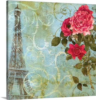 Parisian Roses - Eiffel Tower