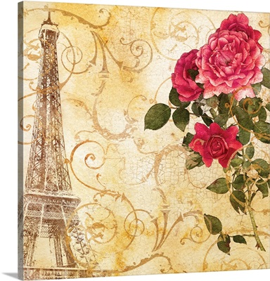 Parisian Roses - Eiffel Tower