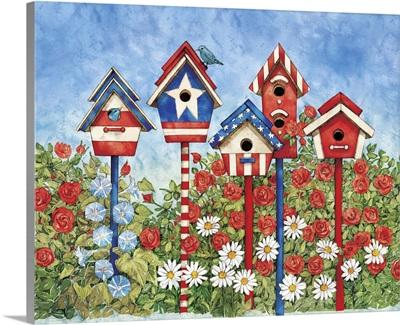 Patriotic Birdhouses