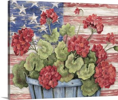 Patriotic Geraniums