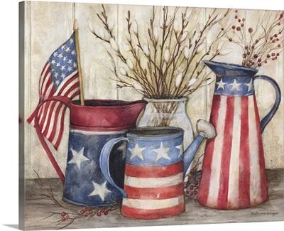 Patriotic Watering Cans
