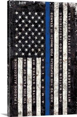 Police Flag - vertical