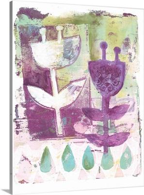 Purple Flower Print