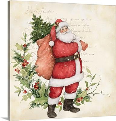 Santa with Holly