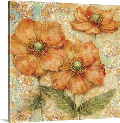 Serene Garden - Orange Floral