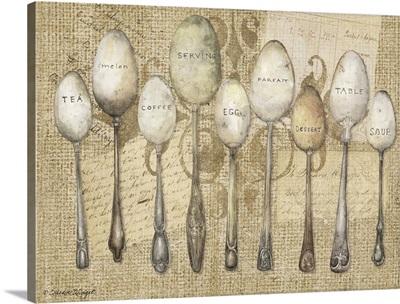 Spoons on Burlap