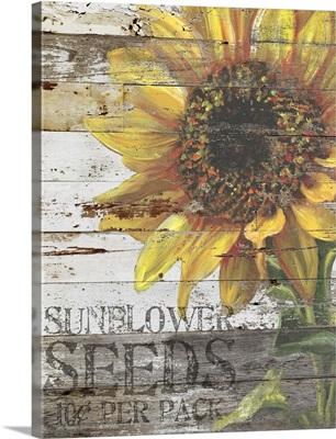 Sunflower Seeds Sign