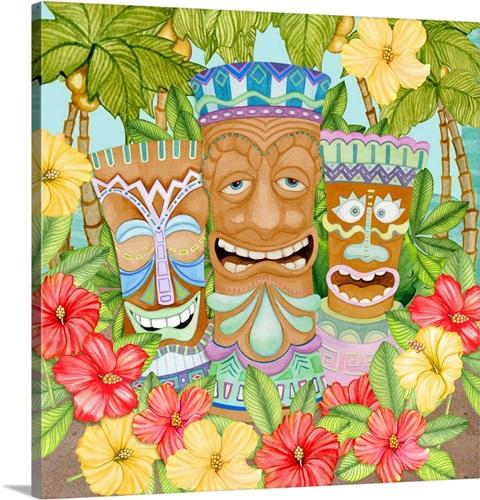 Tiki Wall Art, Canvas Prints, Framed Prints, Wall Peels   Great Big ...