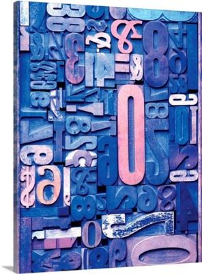 Typography Blue
