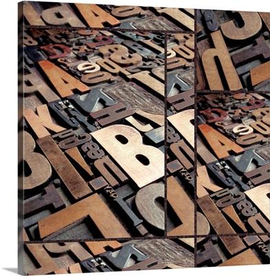 Typography Bronze Collage