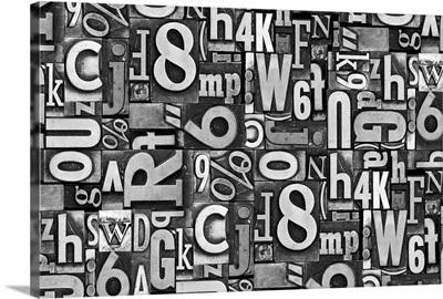 Typography Metal Horizontal