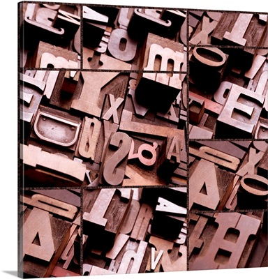 Typography Sepia Collage