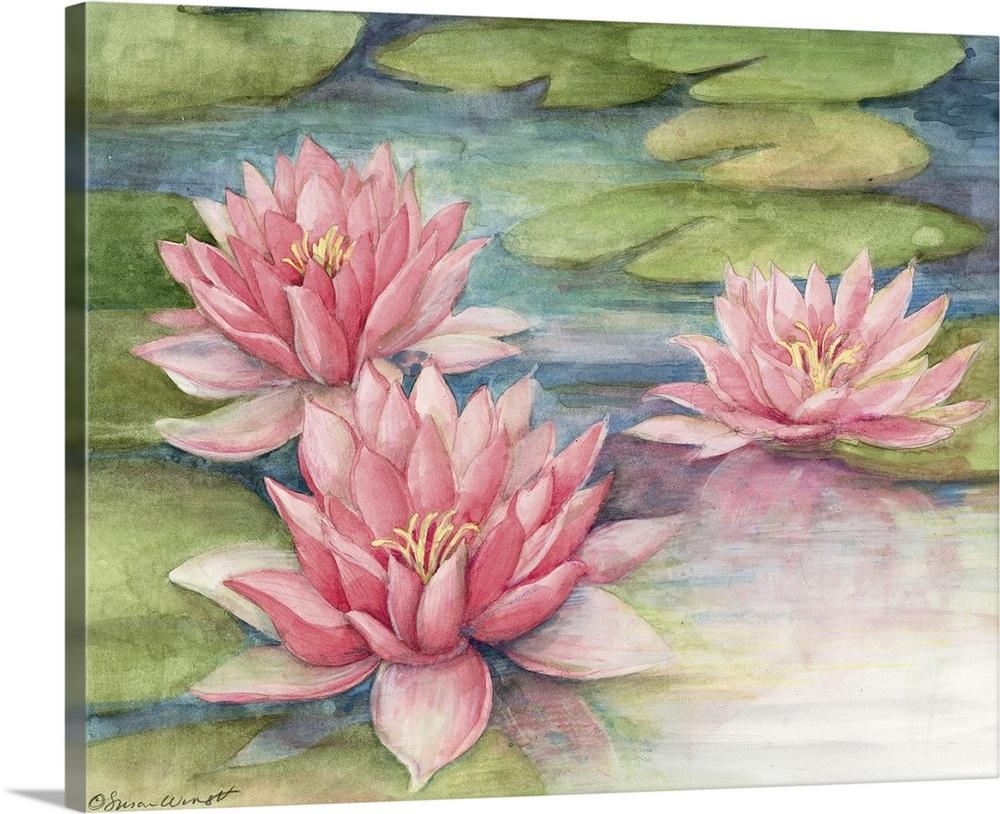 d744b2c0f67c8a Water Lily Wall Art, Canvas Prints, Framed Prints, Wall Peels ...