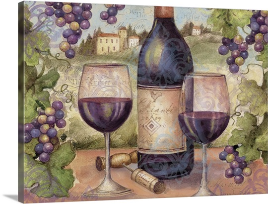 Wine And Grapes Wall Art Canvas Prints Framed Prints Wall Peels