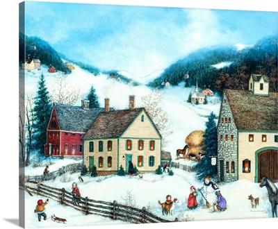 Winter Fun in Village