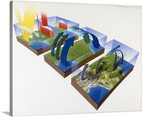 A diagram illustrates the greenhouse effect on earth wall art a diagram illustrates the greenhouse effect on earth ccuart Images