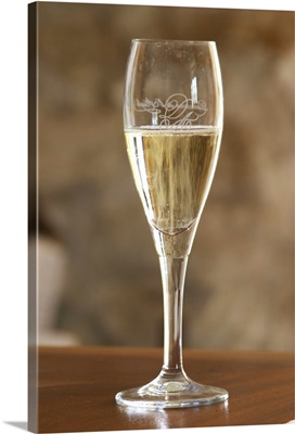 A Glass Of Sparkling Limoux Wine, France