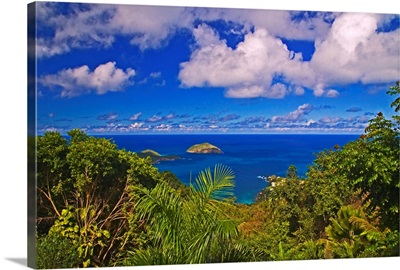A scenic view of Hull Bay from Mountain Top Estates, St. Thomas, US Virgin Islands