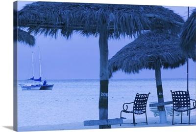 ABC Islands, Aruba, Palm Beach, Beach Chairs