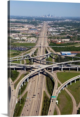 Aerial view of Interstate 45 and the State Highway Beltway 8