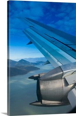 Alaska, aerial view of Inside Passage Landscape