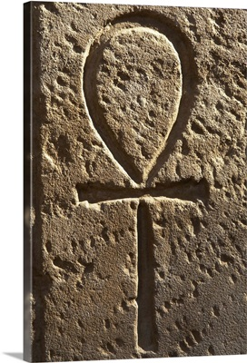 Ankh or key of life, First courtyard of Ramses II, Egypt, Luxor Temple