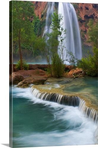 Foyer Oasis Grand Falls : Arizona havasu creek and falls flow peacefully