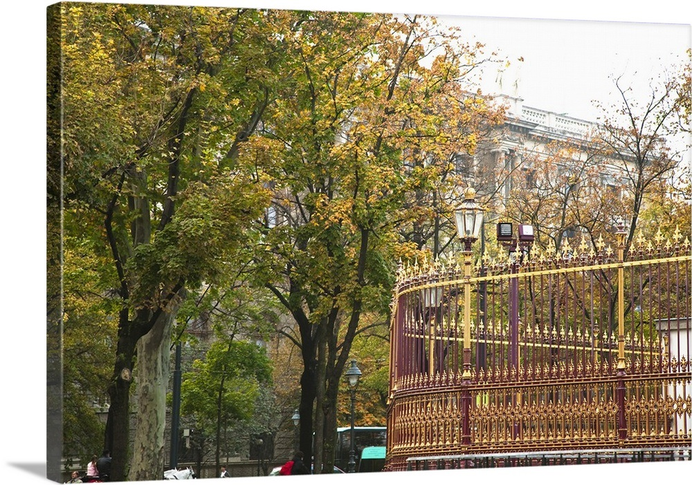 Austria Vienna A Colorful Wrought Iron Fence Surrounded By Trees