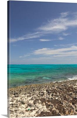 Bahamas, Abacos, Loyalist Cays, Man O'War Cay, Town View of the Atlantic Ocean