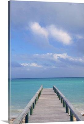 Bahamas, Grand Bahama Island, Eastern Side, Barbary Beach, Pier View