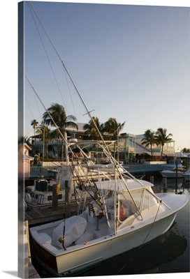 Bahamas, Grand Bahama Island, Freeport, power boats at marina near Our Lucaya Resort