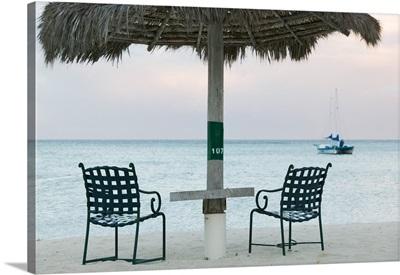 Beach Chairs, Palm Beach, Aruba