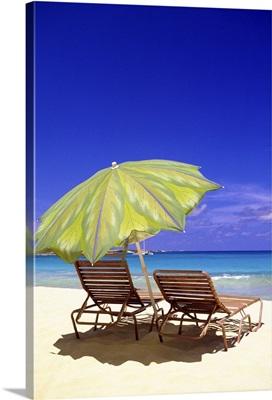 Beach Umbrella, Abaco, Bahamas