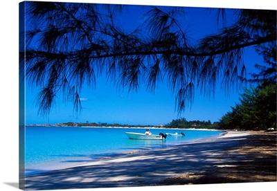 Beach view, Fernandez Bay, Cat Island, Bahamas