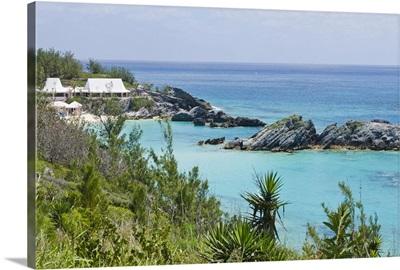 Bermuda. East Whale Bay beach at Fairmont Southampton Princess hotel