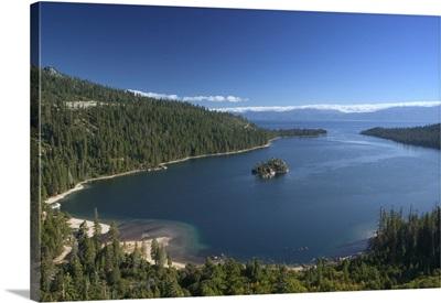 California, Sierra Nevada, Lake Tahoe: Emerald Bay, Morning View