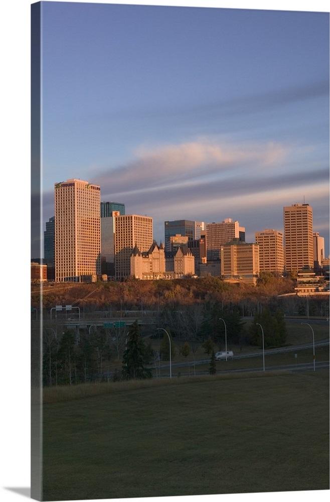Canada Alberta Edmonton Downtown Skyline