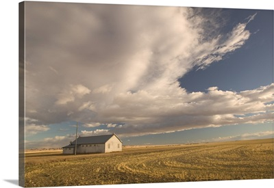 Canada, Alberta, Stand Off, Landscape with Dramatic Sky