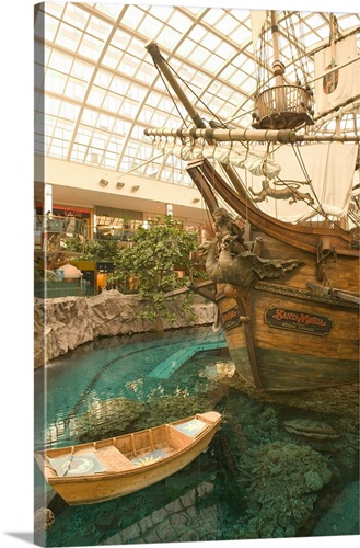 Canada, Alberta, West Edmonton Mall, Deep Sea Adventure Pirate Ship ...