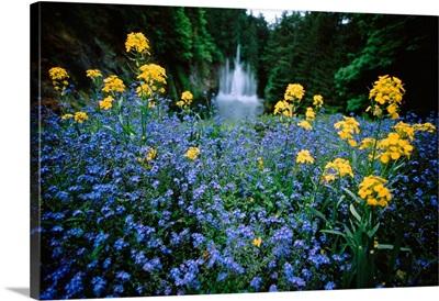 Canada, British Columbia, Butchart Gardens, Ross Fountain