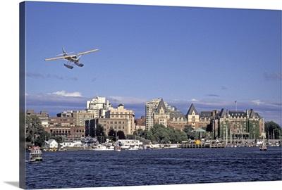 Canada, British Columbia, Victoria Harbor, Harbor Air float plane